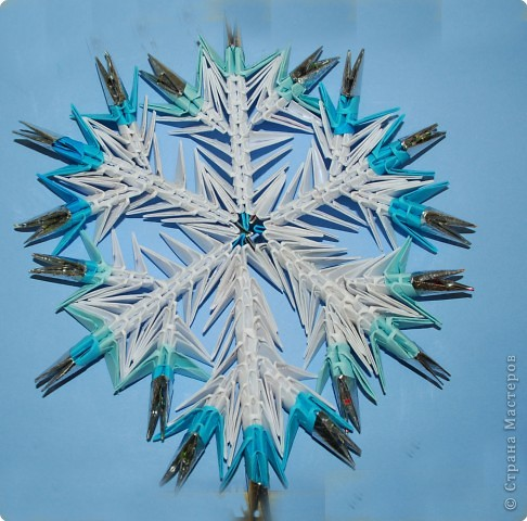 Оригами модульное: Снежинка
