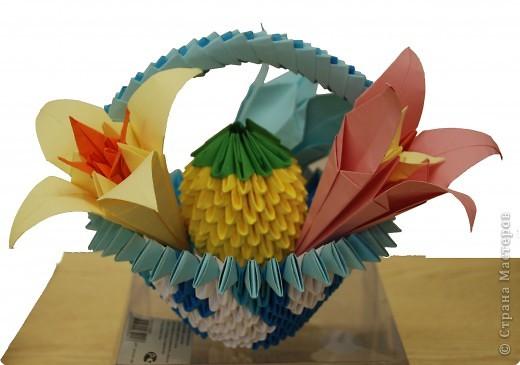 """Работа учеников кружка """"Оригами"""". Руководитель-Сайфутдинова Альфия Фазаловна."""