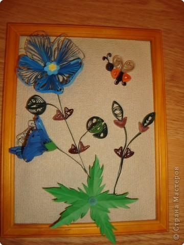 Квиллинг: Голубые цветы фото 1