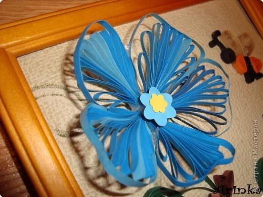 Квиллинг: Голубые цветы фото 2