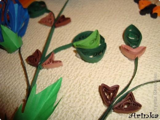 Квиллинг: Голубые цветы фото 3