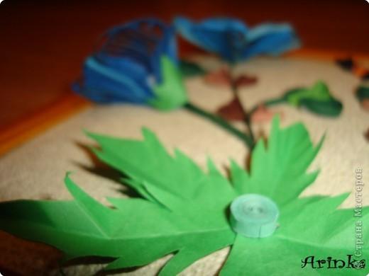 Квиллинг: Голубые цветы фото 4