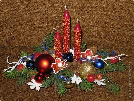 Предлагаю вашему вниманию еще один МК по созданию новогодней композиции. фото 1