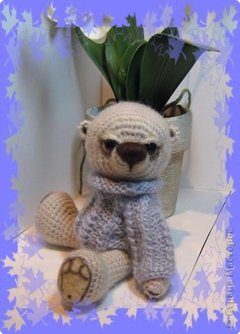 Мишка в свитере ( связан на заказ)