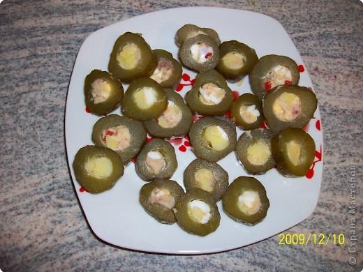 Фаршированные солёные огурцы. фото 4
