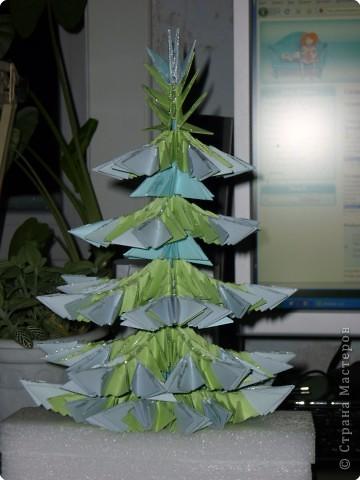 Оригами модульное: Елочка