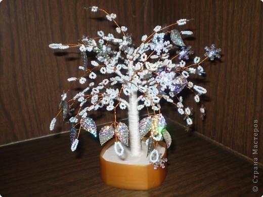 Бисероплетение: снежное дерево