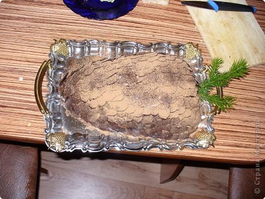 Рецепт кулинарный: Еловая шишка. Вот такой тортик :)))