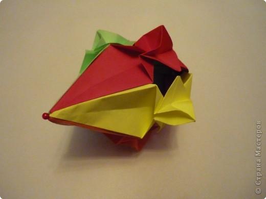 """Кубик с """"окошками"""".  Модуль из прямоугольника 1/4 от А4. фото 6"""