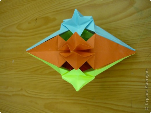 """Кубик с """"окошками"""".  Модуль из прямоугольника 1/4 от А4. фото 4"""