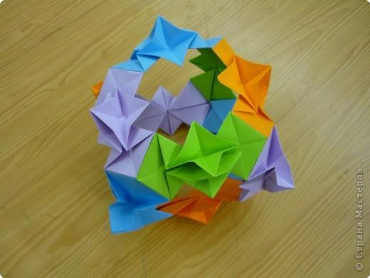 """Кубик с """"окошками"""".  Модуль из прямоугольника 1/4 от А4. фото 3"""