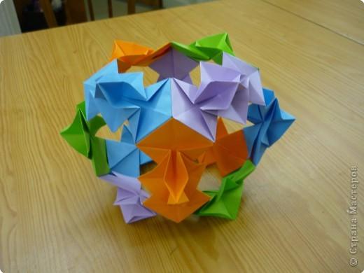 """Кубик с """"окошками"""".  Модуль из прямоугольника 1/4 от А4. фото 1"""