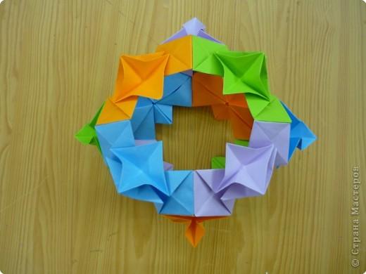 """Кубик с """"окошками"""".  Модуль из прямоугольника 1/4 от А4. фото 2"""