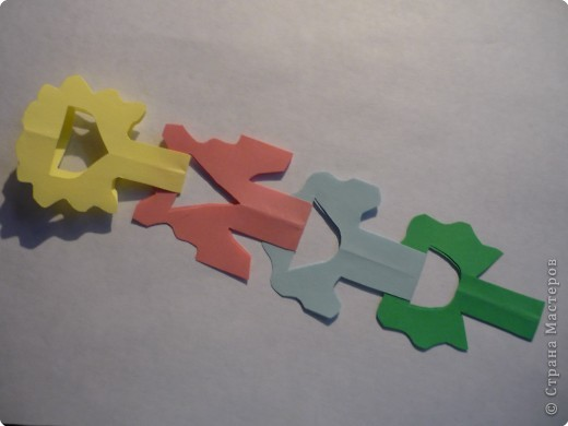 Вырезание симметричное: Гирлянда без клея №2. МК фото 1