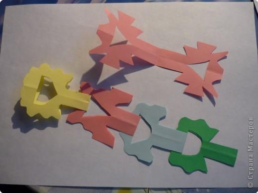 Вырезание симметричное: Гирлянда без клея №2. МК фото 8