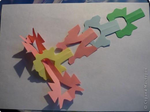 Вырезание симметричное: Гирлянда без клея №2. МК фото 9
