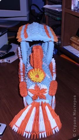 Оригами модульное: Паровозик фото 2