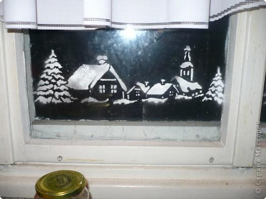 Рисунки на окнах фото