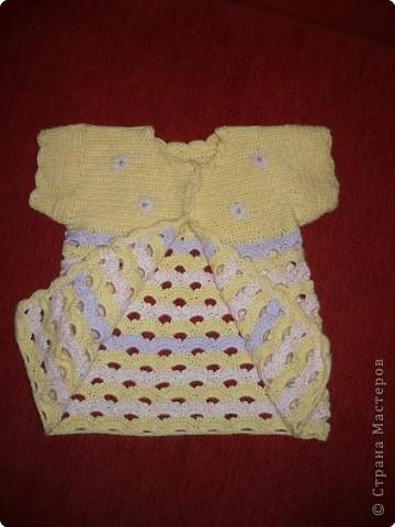 Вязание крючком: Туника для дочки.