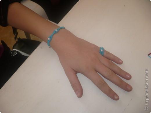 Макраме: Браслет с кольцом