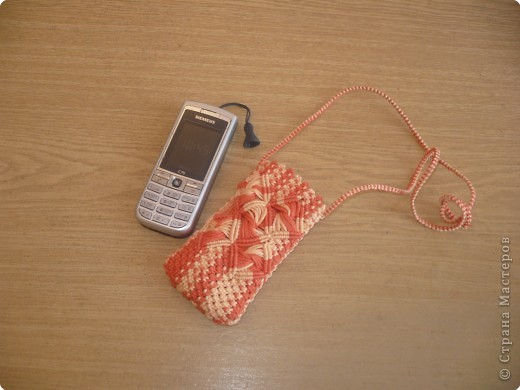 Макраме: Чехол для сотового телефона