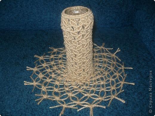 Макраме: ваза с салфеткой