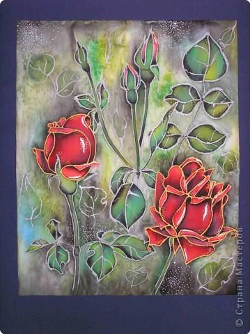 Батик: Мои розы