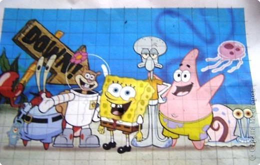 Аппликация: Спанч-Боб и его друзья. фото 4