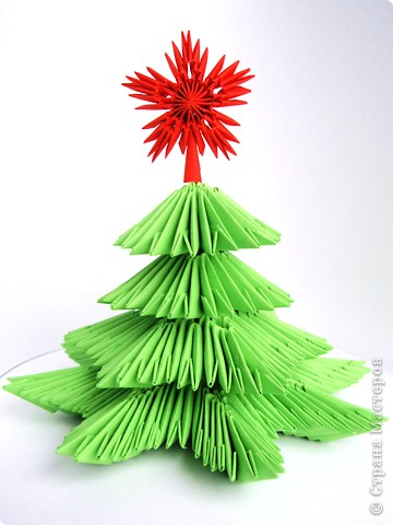 Звезда на елку из бумаги своими руками