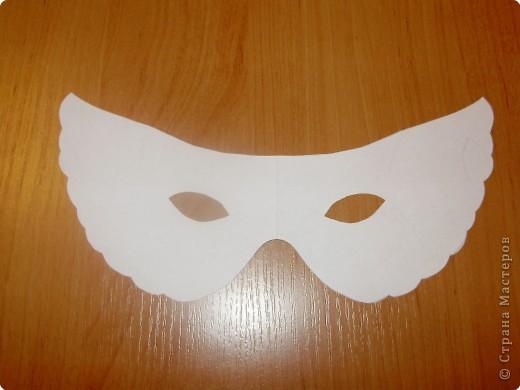 Аппликация: Карнавальная маска-очки,  шаблоны фото 4