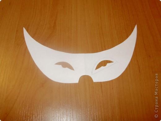 Аппликация: Карнавальная маска-очки,  шаблоны фото 5