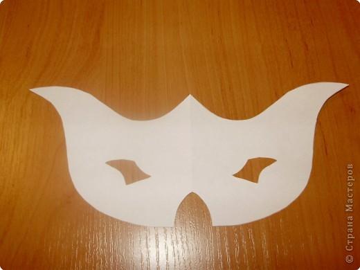 Аппликация: Карнавальная маска-очки,  шаблоны фото 8