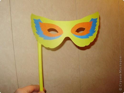 Аппликация: Карнавальная маска-очки,  шаблоны фото 10