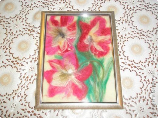 Картина панно рисунок Картины из шерсти Шерсть фото 5