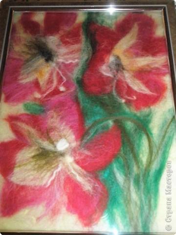 Картина панно рисунок Картины из шерсти Шерсть фото 6