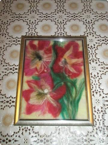 Картина панно рисунок Картины из шерсти Шерсть фото 4