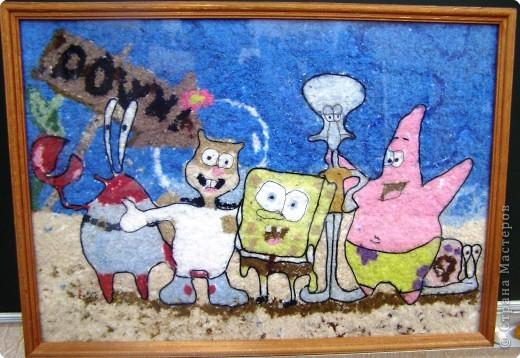 Аппликация: Спанч-Боб и его друзья. фото 1