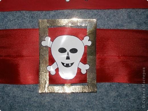 В садике костюм пирата был, сказали принести бандану и пояс. Вот сделала, как смогла))) фото 2