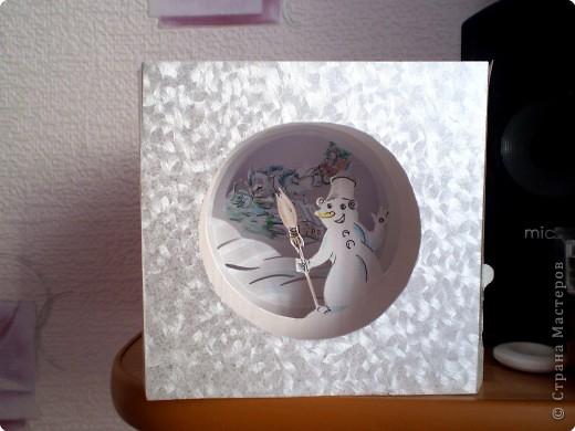 открытка на новый год в технике бумажный туннель..хотите сделать своими руками приятный подарок родным близким и самым любимым людям в канун нового года...тогда дерзайте.. фото 3
