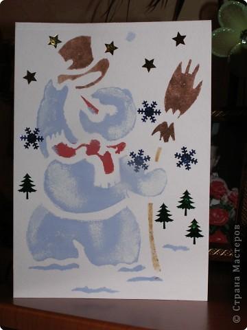 Такого снеговичка сделать несложно даже ребенку, но моя доча почему - то не захотела. фото 1