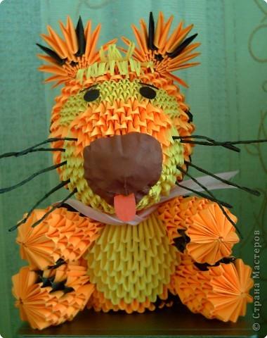 Оригами модульное: Вот и мой символ года готов! фото 3