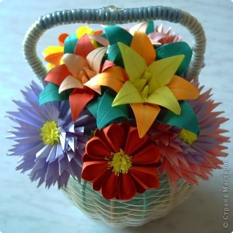 Оригами модульное: Цветы фото 3