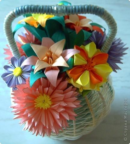 Оригами модульное: Цветы фото 2