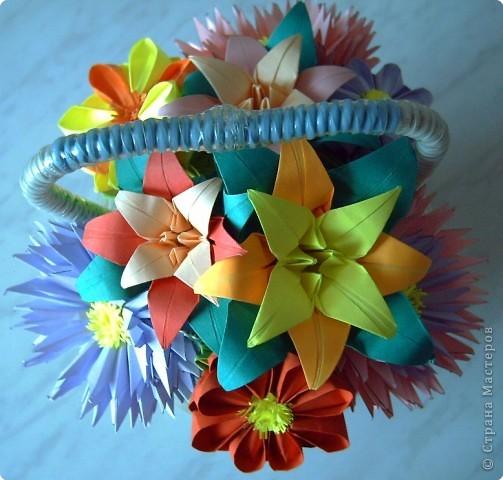 Оригами модульное: Цветы фото 1