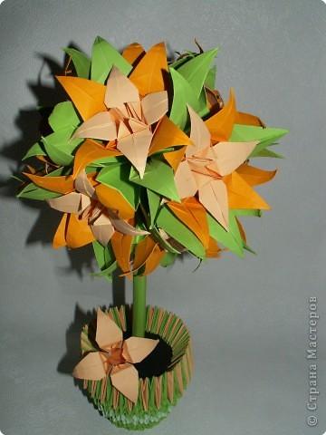 Оригами модульное: Лилейное дерево) фото 2
