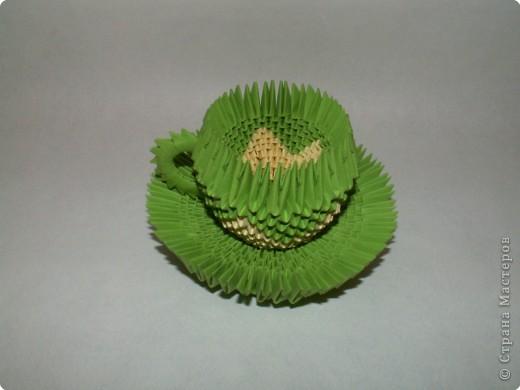 Поделка изделие Оригами китайское модульное Чайный сервиз Бумага фото 4