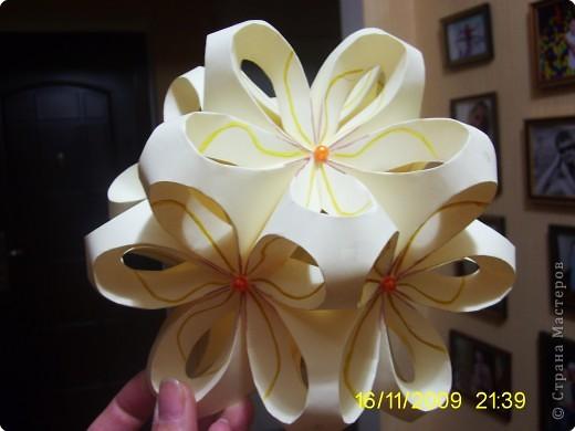 Кусудама: Цветочный шарик фото 3
