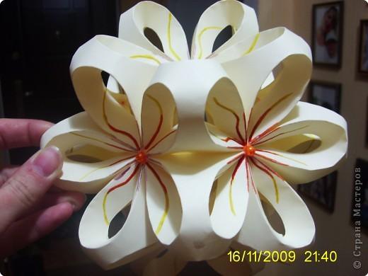 Кусудама: Цветочный шарик фото 2