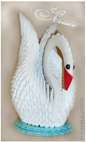 """Моя лебедушка по МК """"Радужный лебедь"""". Спасибо огромное создателям и обитателям сайта!"""