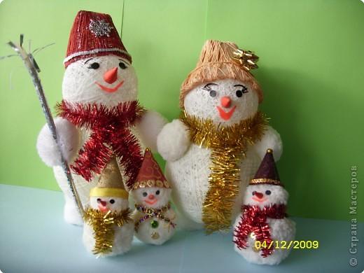 Семья снеговиков!